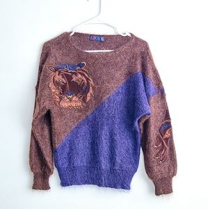 ESCADA Vintage Tiger Wool Mohair Sweater size 34